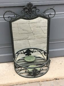 Attractive Black Iron Planter Mirror