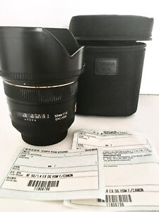 Sigma 50mm 1.4 EX DG HSM for Canon - Like New -