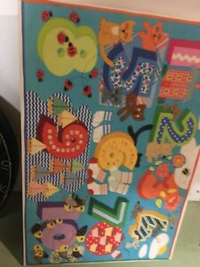 Colourful wall hanging for child's room