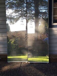 """Mirrored sliding door 48"""" frameless"""