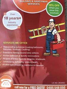 Your handy man. All areas in Sydney