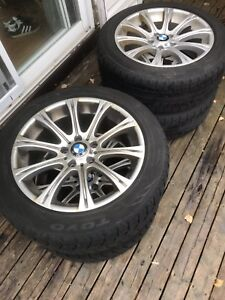 BMW rims and toyo winter tires 235/50/r18