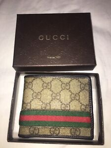 Gucci mens leather wallet AUTHENTIC