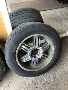 """20"""" wheels and 275 55 20 tires 6 bolt GM 6x139.7 or 6x5.5"""