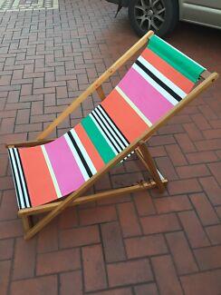 4 x Foldable lounge chair, deck chairs, beach chairs