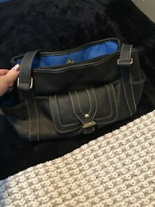 Black and blue purse