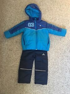 Size 24 month Adidas winter jacket and winter pants $20.