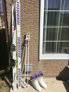 Rossignol downhill skis/boots/poles