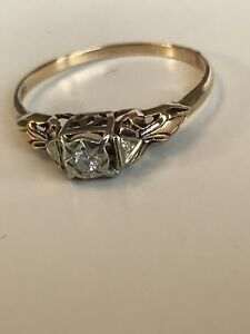 Beautiful vintage 14k and 18K engagement ring...