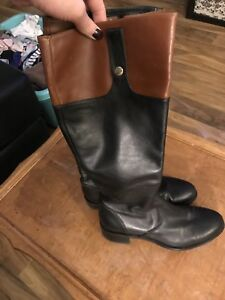 Leather boots made in Italy from browns. Size 36