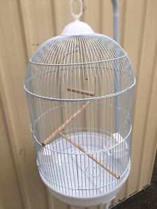 Brand NEW 40cm x 70cm H round bird cage-stand extra; in black or white Meadowbrook Logan Area Preview