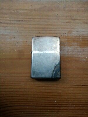 Zippo USA lighter Antique Silver Plate Used