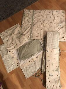 Ensemble draps douillette pour bassinette