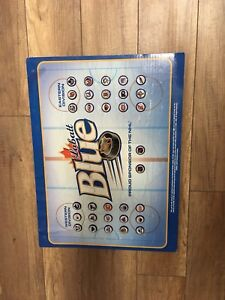 Labatt Blue NHL teams beer cap display