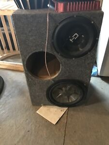 Sub box with 2 10s and 12inch