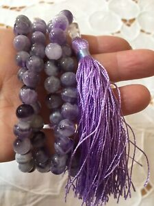 Natural Brand New  amethyst mala necklace with tassel!❤️