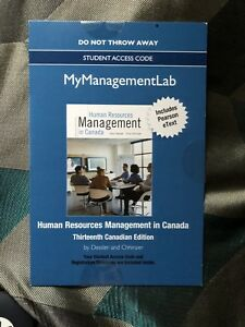 Human resource management in Canada 13th edition