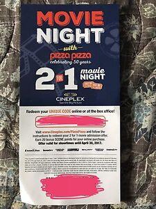 2 for 1 Cineplex ticket