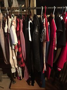 Full Rack of Vintage Clothes