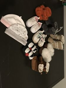 Girls Shoes & Hat Lot
