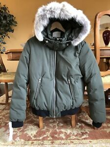 Soia & Kyo men's down bomber with fur lined hood