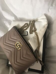 Gucci marmont chain bag- nude