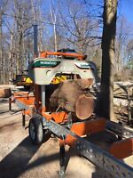 Sawmill service for hire and wood sales