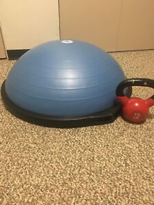 Bosu Ball and 10lbs kettle bell