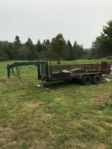 16' goose neck trailer for sale