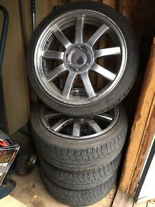 Audi replica wheels, tires, and Eibach suspension