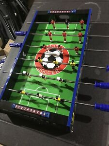 FOOSBALL Table Top Soccer Game - EUC