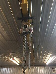Palan sur rail de 20 pieds