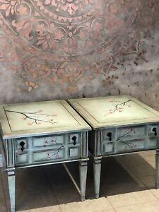 Refinished antique Kroehler end tables/side tables