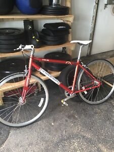 Fixed Bicycle- Stage One Tour de France (Vintage Red)