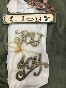 Joy Christmas tree ornaments