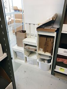 IKEA TROFAST white with bins
