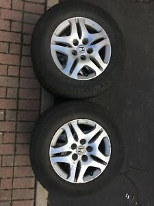 OEM Honda Odyssey rims with all season and winter tires