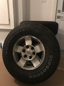 Toyota FJ Cruiser All Season Tires on Rims