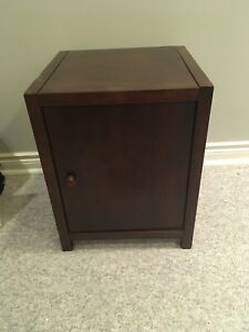 Small wood cabinet. Versatile uses