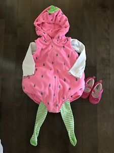 Strawberry costume - 24 months