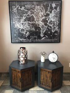 Mid Century Modern Brutalist Style End Tables
