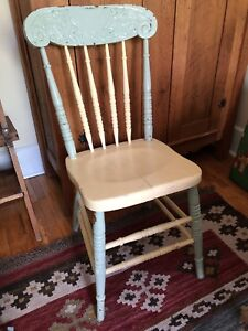 Awesome painted antique chair