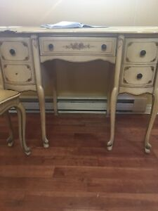 Stunning rare Italian made French provincial desk and chair