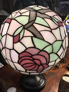 Large stained Glass Ball Lamp