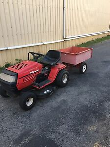 Ride on mower with tipper trailer Singleton Singleton Area Preview