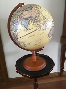 World rotating globe on stand