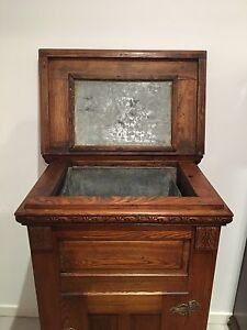 Rare antique English Oak carved ice chest Alexandra Headland Maroochydore Area Preview
