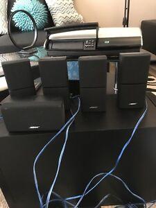 Bose av38 5.1 speakers & media center