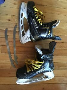 Bauer high quality hockey skates with extra blades