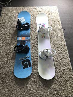 Snowboards + snow gear